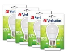 Verbatim LED žárovka, E27 9W 820lm (60W), typ A matná, teplá bílá, 4ks/pack