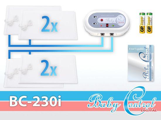 Baby Control Digital Monitor dechu Pro dvojčata - 4 podložky