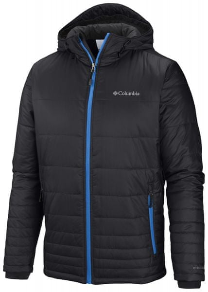 Columbia Go To Hooded Jacket Black/Hyper Blue Pop S
