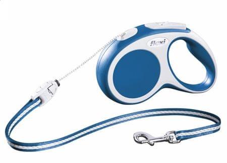 Flexi smycz automatyczna Vario S- dł. 8 m/12 kg- niebieska