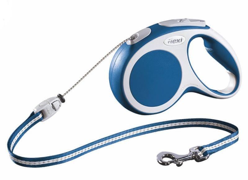 Flexi vodítko Vario M lanko 8m/20kg modré