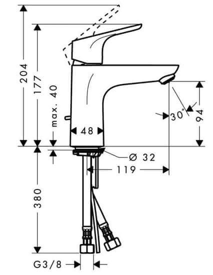 Hansgrohe armatura za umivalnik Focus 100 (31607000)