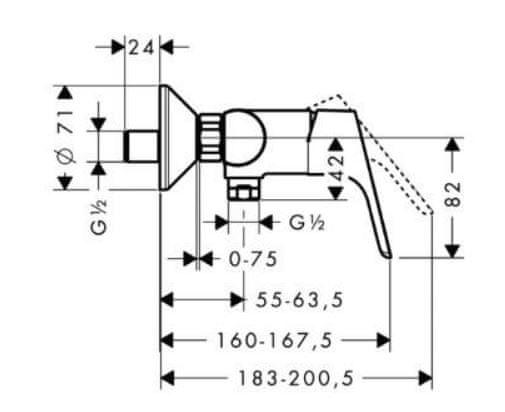 Hansgrohe jednoručna miješalica za tuš Focus (31960000)
