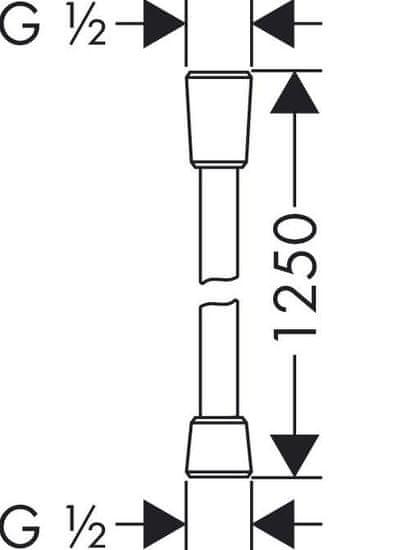 Hansgrohe pršna cev Isiflex (28272000), 1,25 m
