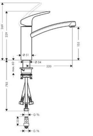 Hansgrohe Focus kuhinjska armatura (31804000)
