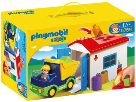 Playmobil 6759 Teherautó formakereső raktárral