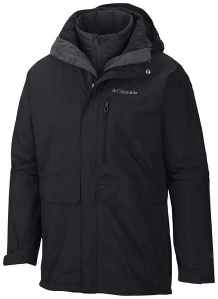 Columbia Portland Explorer Interchange Jacket Black/Black S