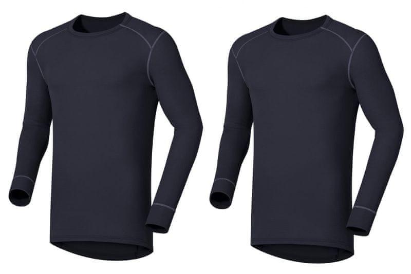ODLO Multi-2-pack pánské triko dlouhý rukáv Warm Blue XXL