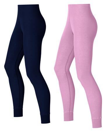 ODLO Multipack Warm W pants Pink-India Ink XS