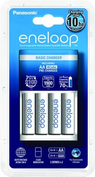 Panasonic Basic Charger 4x AA 1900 mAh