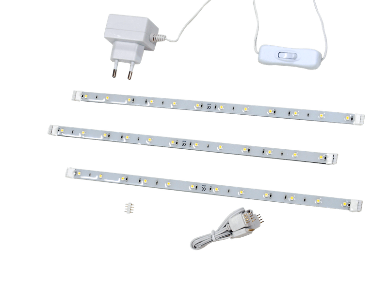 Dencop Lighting LED pásek pevný, set 3 x 306 mm