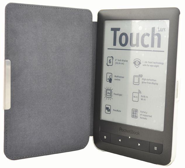 C-Tech pouzdro pro Pocketbook 624/626, hardcover, PBC-03, bílé