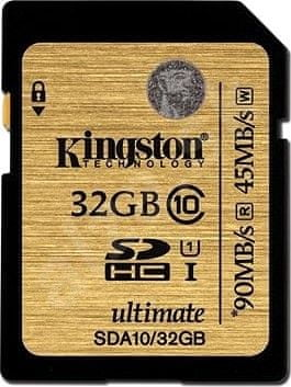 Kingston SDHC 32GB (UHS-1) Ultimate 90MB/s (SDA10/32GB)