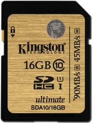Kingston SDHC 16GB 90MB/s UHS-I (SDA10/16GB)