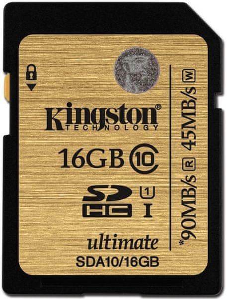 Kingston SDHC 16GB 90MB/s UHS-I (SDA10/16GB)