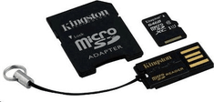 Kingston microSDXC 64GB (class 10) + adaptér + USB čtečka