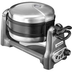 KitchenAid pekač vafljev Artisan, srebrna
