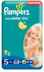 Pampers Active Baby Junior Pieluchy rozmiar 5, 68 sztuk