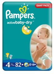 Pampers Active Baby Maxi Pieluchy, rozmiar 4, 82 szt
