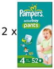 Pampers ActivePants Boy 4 Maxi - 104 ks