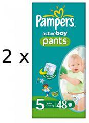 Pampers ActivePants Boy Pieluchomajtki, rozmiar 5 Junior, 96 sztuk