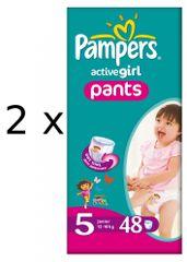 Pampers ActivePants Girl Pieluchomajtki, rozmiar 5 Junior, 96 sztuk