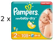 Pampers Active New Baby 2 Mini - 2x 108 szt - 216 szt.