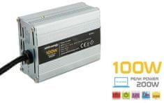 OEM WE DC / AC átalakító 12V / 230V, 100W, USB mini (06574)