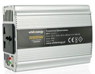 OEM WE Měnič napětí DC/AC 12V / 230V, 350W, USB (06579)