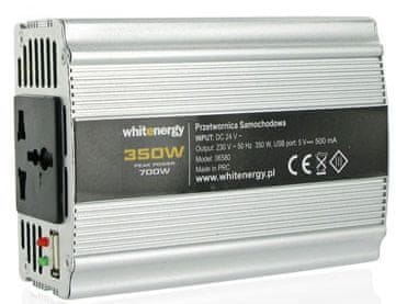 OEM WE Měnič napětí DC/AC 12V / 230V, 400W, USB (06581)
