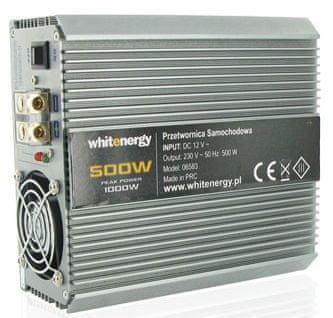 OEM WE Měnič napětí DC/AC 12V / 230V, 500W, 2 zásuvky (06583)