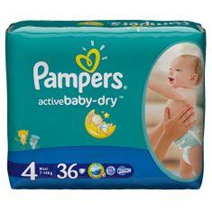 Pampers Active Baby 4 Maxi Pelenka, 7-14 kg, 36 db