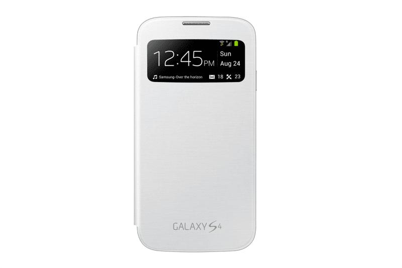 Samsung flip EF-CI950BWEG S-view Galaxy S4, bílý