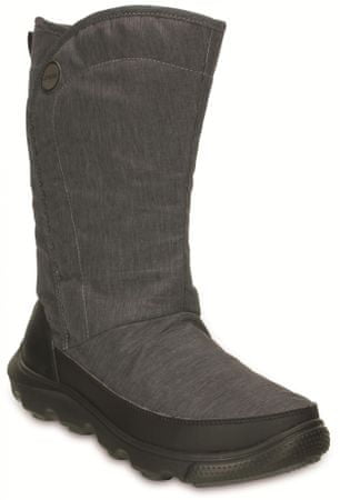 Crocs Duet Busy Day Boot Women Black Black W7 (37 ccfb7e3a2f