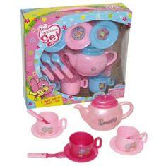 Set za čaj, roza