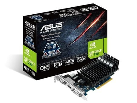 Asus grafična kartica GT730 PCI-E SILENT (GT730-SL-1GD3-BRK)