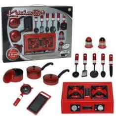 Set za kuhanje, rdeč