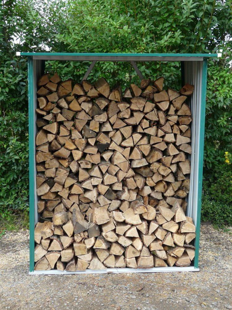 M.A.T. Group Přístřešek na dřevo 189x76x191cm plech - rozbaleno