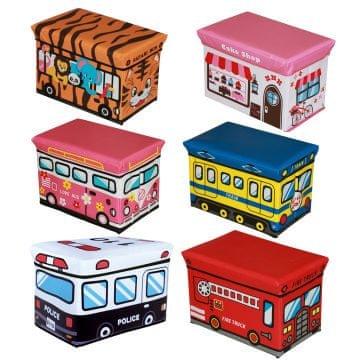 Tabure/škatla za shranjevanje igrač, 49x31x31 cm