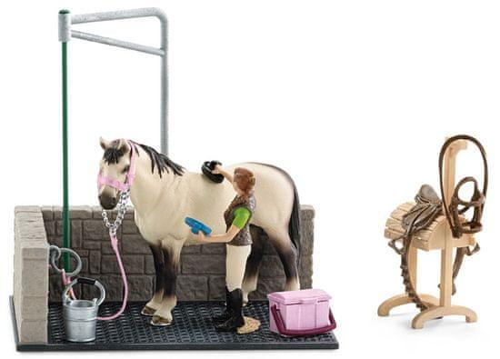 Schleich zestaw myjni dla koni z akcesoriami 42104