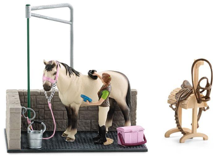 Schleich Mycí kout pro koně s příslušenstvím 42104 - II. jakost
