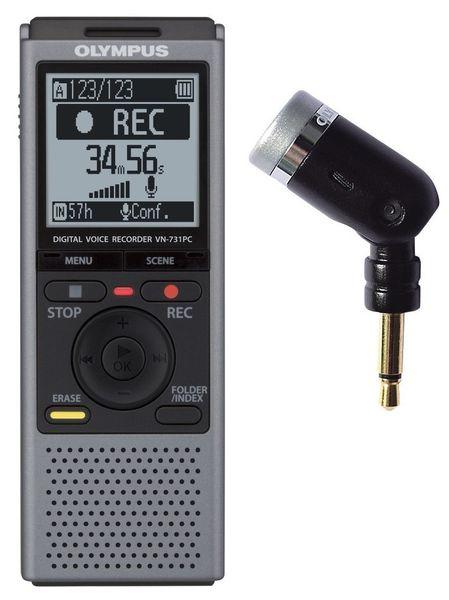 Olympus VN-731PC + ME52 monofonní mikrofon