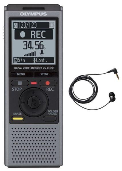 Olympus VN-731PC + TP8 telefonní mikrofon