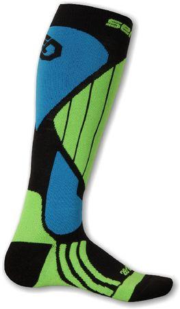Sensor skarpety narciarskie Snow Pro black/green/blue 6/8