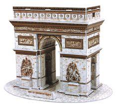 CubicFun Arc de Triomphe 3D Puzzle, 26 db-os