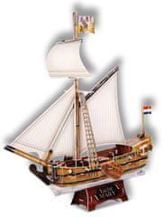 CubicFun Puzzle 3D Jachta Mary – 83 dielikov