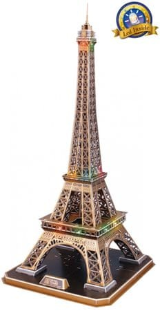 CubicFun Eiffel Tower 3D LED Puzzle, 82 db
