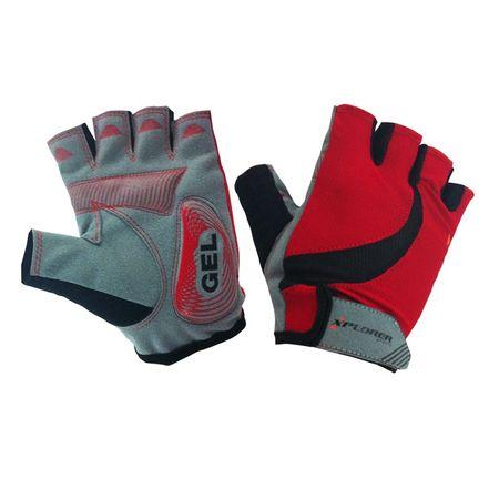 Xplorer kolesarske rokavice Gel XL, rdeče