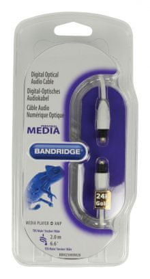 Bandridge personal media Toslink digitalni optični avdio kabel 2.0m (BBM25000W20)
