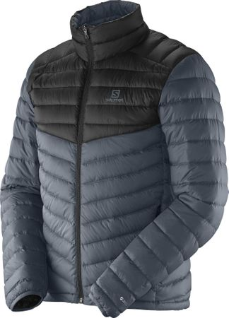 Salomon Halo Down Jacket M Dark Cloud/Black L